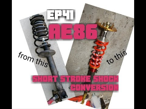 Ep41 PROJECT AE86 short stroke coilover conversion!