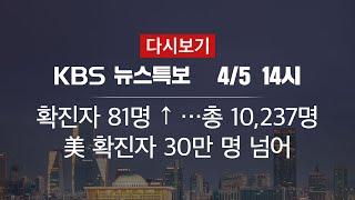 [KBS 통합뉴스룸 다시보기] 추가 확진 81명·격리 해제 138명(5일 14:00~)