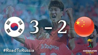 Korea Republic vs China PR (Asian Qualifiers - Road to Russia)