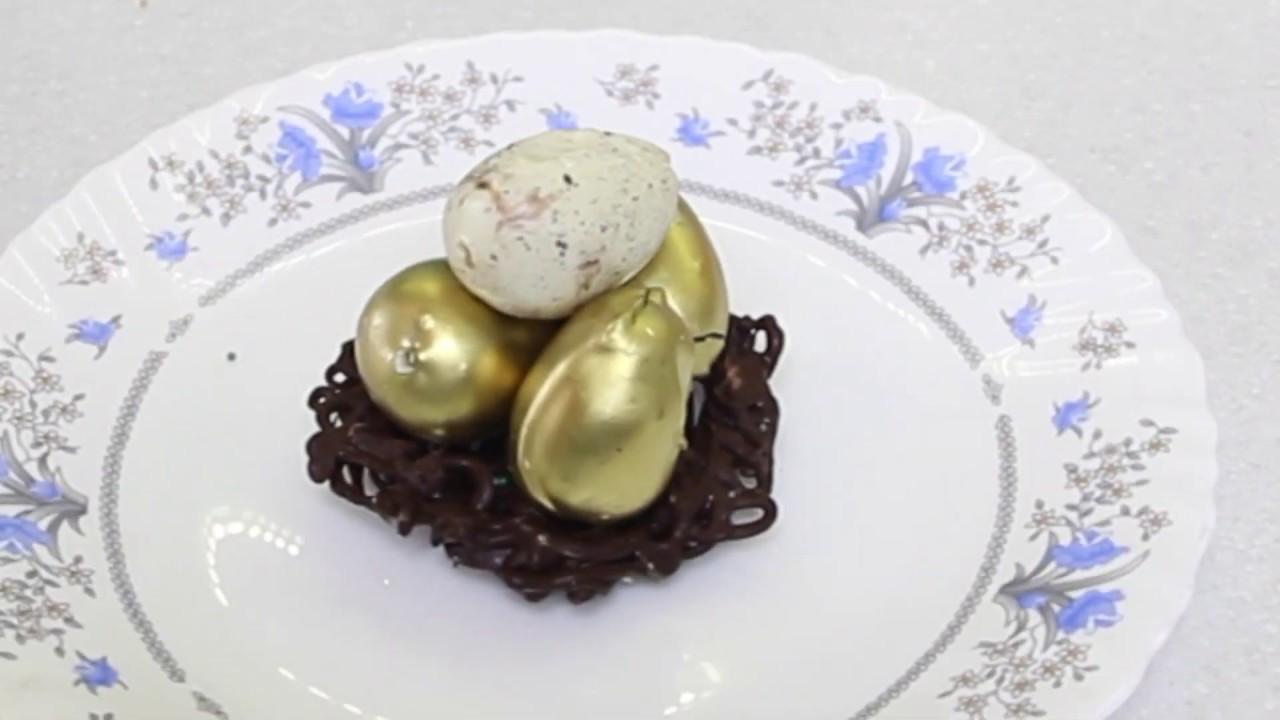 Украшение для куличей   сладкие яйца кейк попсы и шоколадные гнезда своими руками