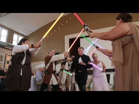 Star Wars themed wedding in New Harmony Indiana