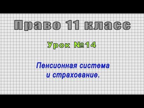 Право 11 класс (Урок№14 - Пенсионная система и страхование.)