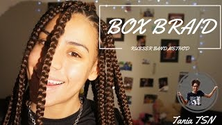 box braids   rubber band method   how to do your own   taniatsn