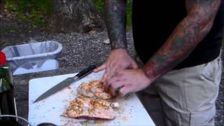 Cornish Hen And Potatoes In A Dutch Oven