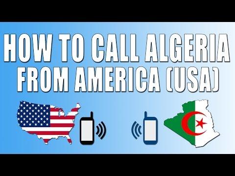 How To Call Algeria From America (USA)