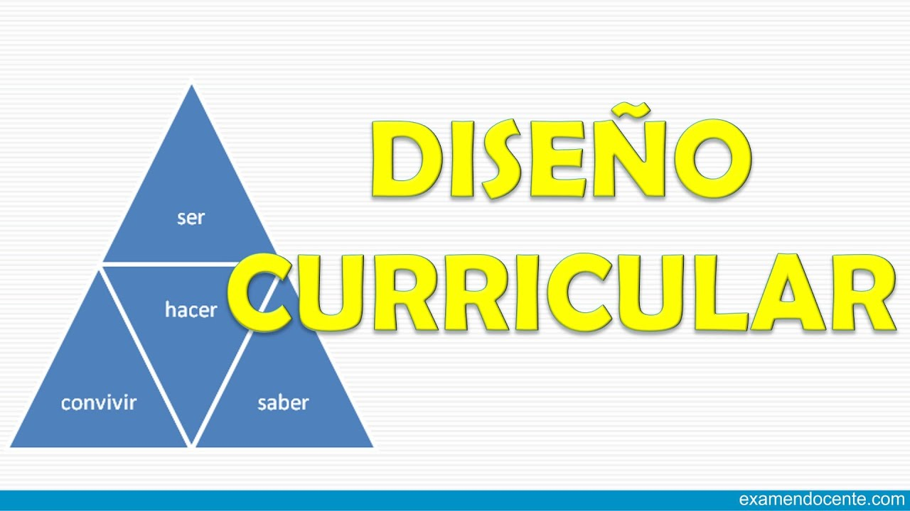 dise o curricular youtube