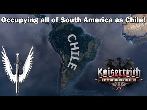 Chile invades South and Central America! (Hoi4 Kaiserreich Speedrun/Timelapse)