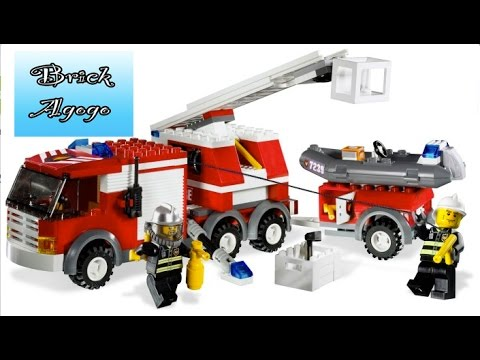 Lego City 7239 Fire Truck Lego Speed Build Youtube