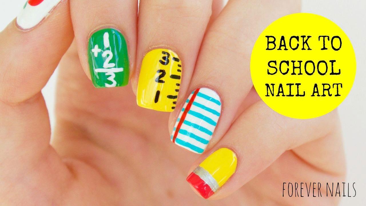 Back To School Nail Art - YouTube