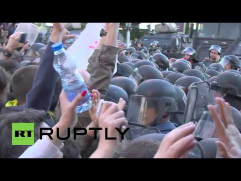 Macedonia: Several thousand march in anti-gov demo in Skopje