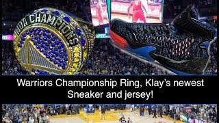 Warriors Championship Ring! Klay Thompson