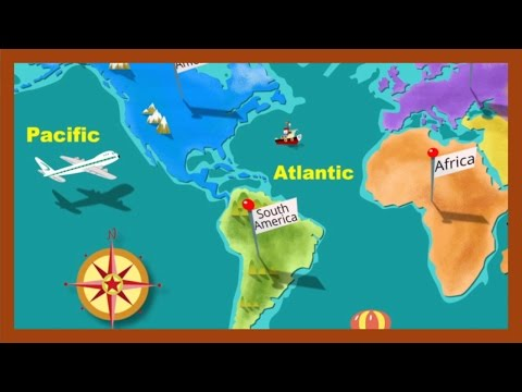 """Continents and Oceans"" by ABCmouse.com"