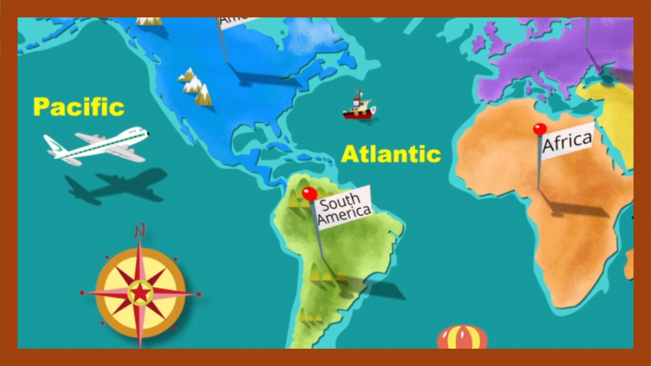 medium resolution of Continents and Oceans\ by ABCmouse.com - YouTube