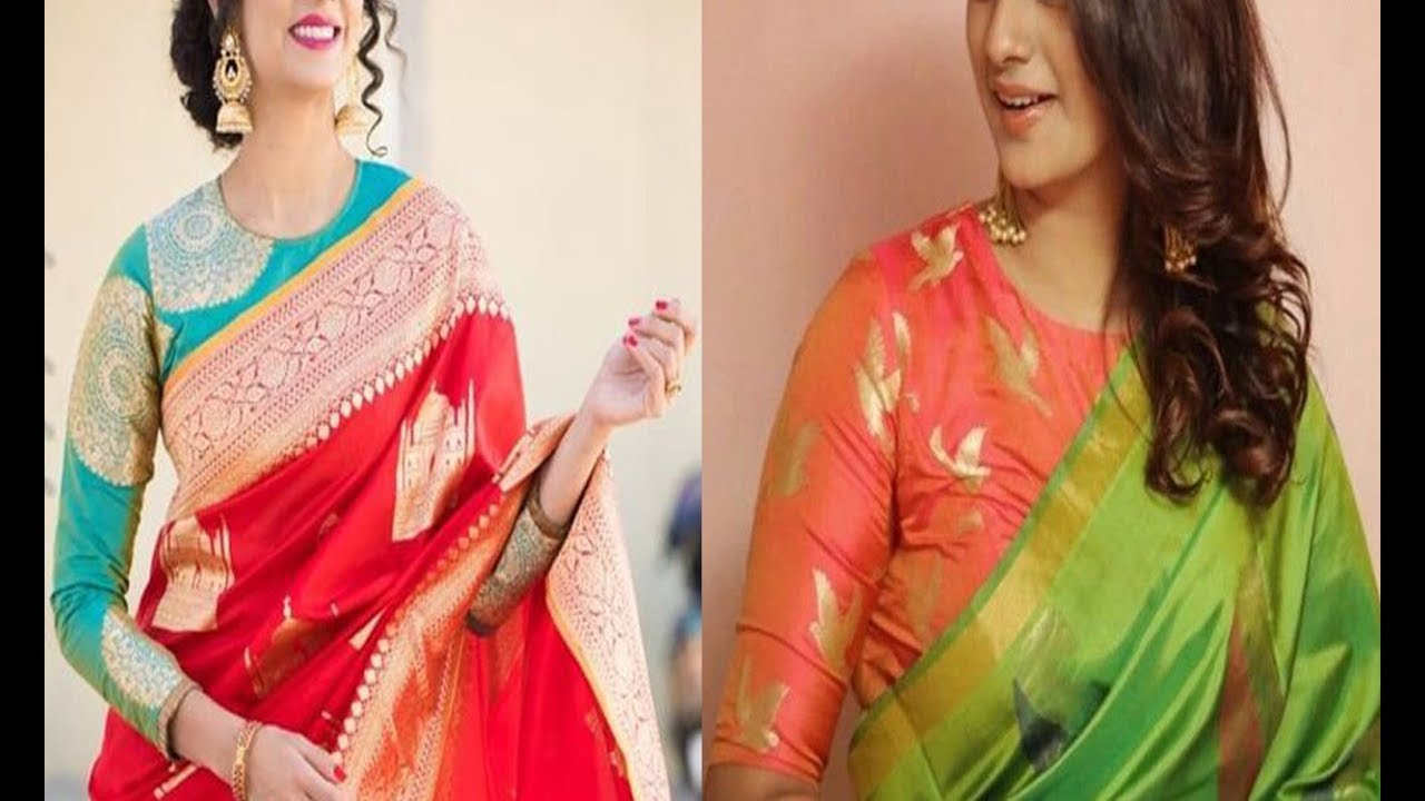 e1c6a6d6b2447 Rich And Elegant Look With Brocade Blouse Designs