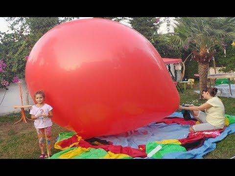 BÖYLE DEV BALON GÖRDÜNÜZ MÜ ? GİANT BALLOON Eğlenceli video