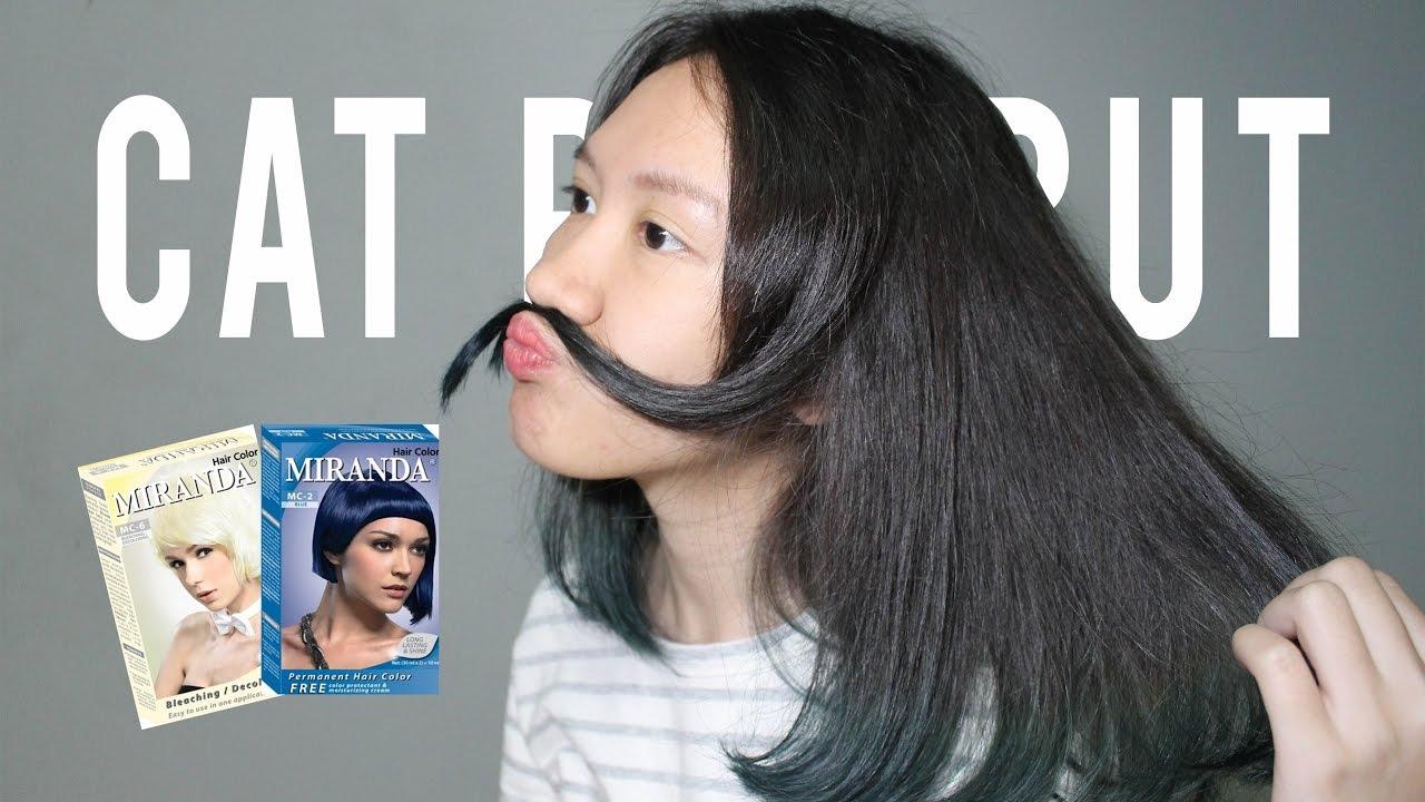 Tutorial Cara Mewarnai Rambut Sendiri Blue Miranda How To Dye Your Hair Youtube