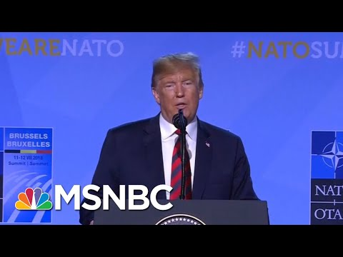 President Donald Trump Unleashes Lies At NATO Press Conferen