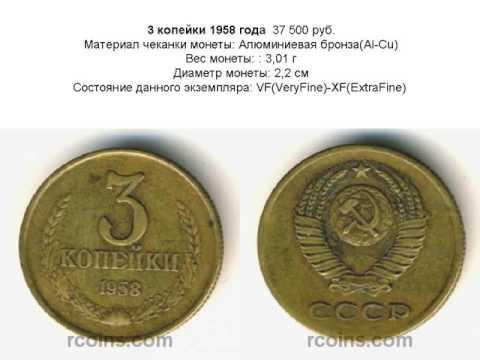 Нумизматика цены на монеты СССР 1921 1958 Самые дорогие