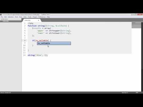 Learn PHP: Callbacks