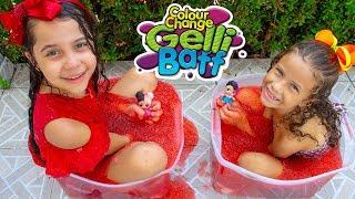 GELLI BAFF CHALLENGE - Desafio do Gelli Baff Procurando LOL Surprise Dolls - Slime Challenge