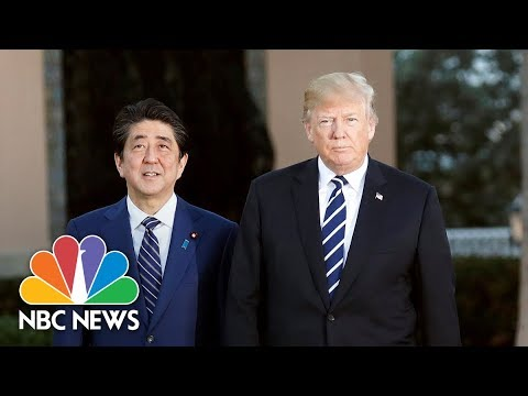 Trump hosts joint press conference with Prime Minister of Japan