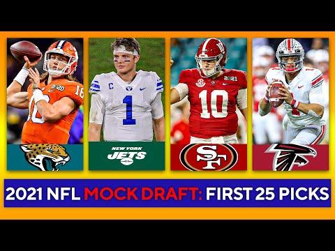 2021 NFL Mock Draft: First 25 Picks [Trevor Lawrence, Justin Fields, Zach Wilson] | CBS Sports HQ
