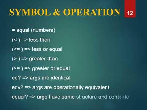 Introduction to scheme programming language