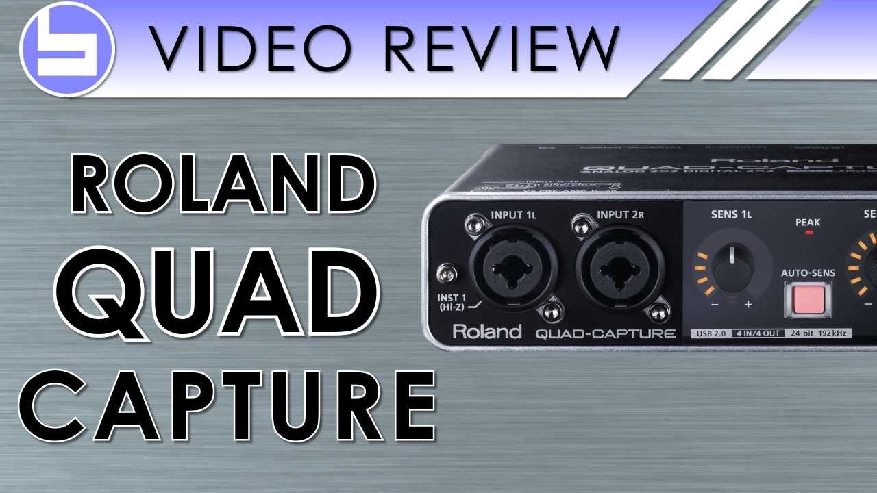 roland quad capture audio interface video review youtube. Black Bedroom Furniture Sets. Home Design Ideas