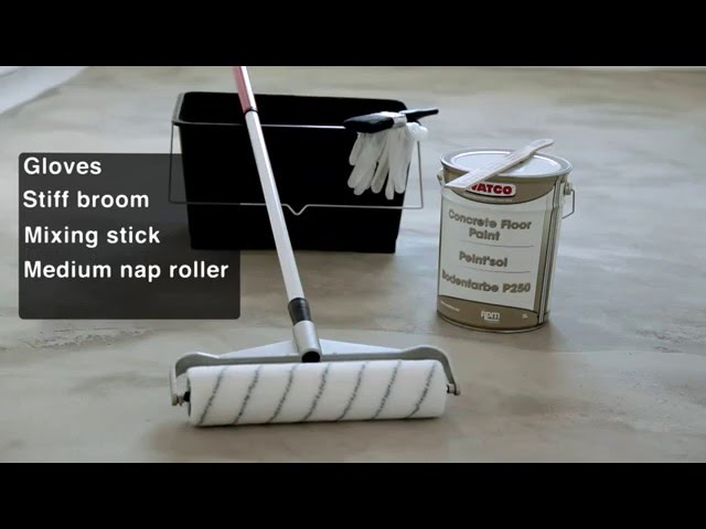 How To Paint A Concrete Floor Youtube