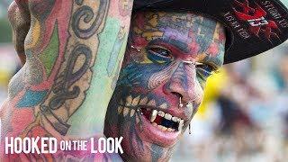 Download Dad With 1,000 Tattoos Inks Own Eyeballs | HOOKED ON THE LOOK Mp3 and Videos
