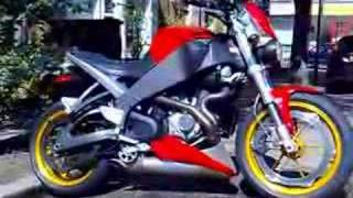 buell xb12s with race exhaust pipe ticking over v2 twin sound