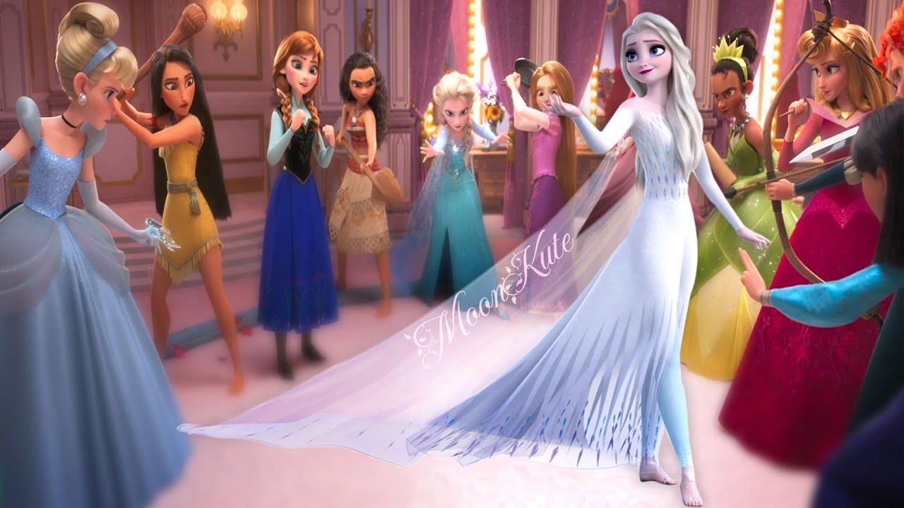 Elsa Frozen 2 Vs Disney Princesses Youtube