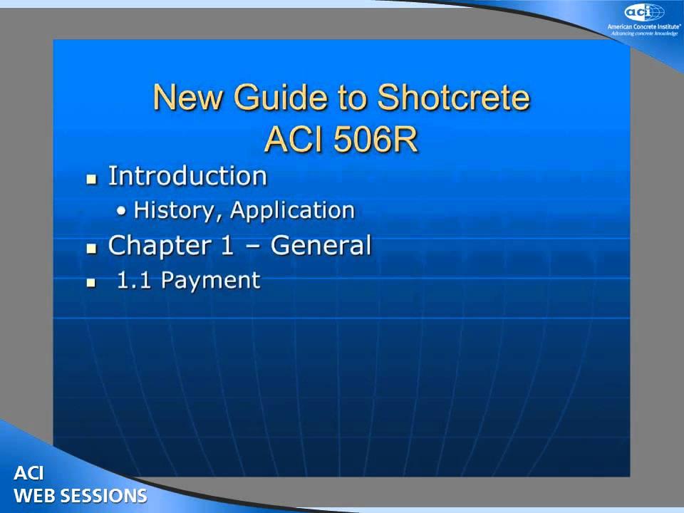 guide to shotcrete youtube rh youtube com Guide to Cats aci 506r-05 guide to shotcrete pdf