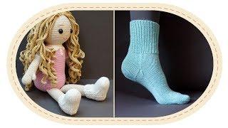 Простая универсальная схема вязания носков спицами. A simple universal knitting pattern for socks.
