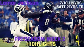 Lamar Jackson Preseason Week 1 Highlights | First Rushing TD 08.09.2018