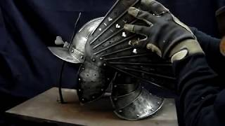 Nigel Carren Polish Winged Hussar Zischagge helmet Szyszak.MPG