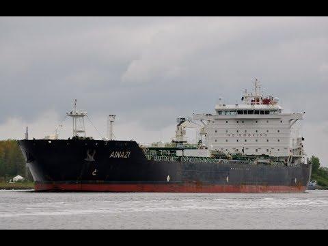 """AINAZI"" Oil/Chemical Tanker. / Танкер АЙНАЖИ. Суровые Шторма и Работа в Море."