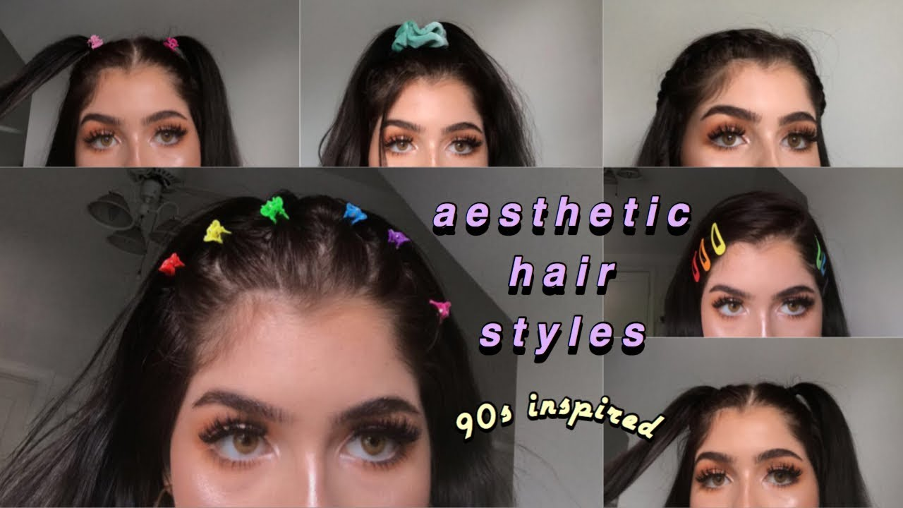 90s INSPIRED AESTHETIC HAIRSTYLES | Emma Donado - YouTube