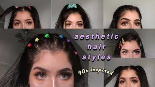 90s INSPIRED AESTHETIC HAIRSTYLES | Emma Donado