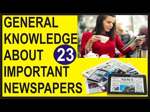 Important News Agencies of the World | Important newspaper of the World | General Knowledge Quiz