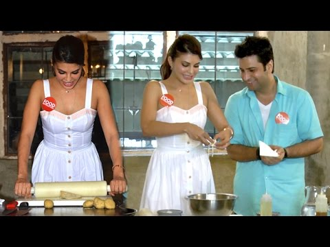 Jacqueline Fernandez Cooking In Kitchen With Chef Kunal Kapoor