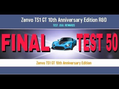 Asphalt 8 R&D test 50 lab 5 Zenvo TS1 GT 10th AE