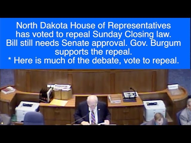 Debating Everything From God To Ghostbusters, ND House Votes To Repeal Sunday Closing Law