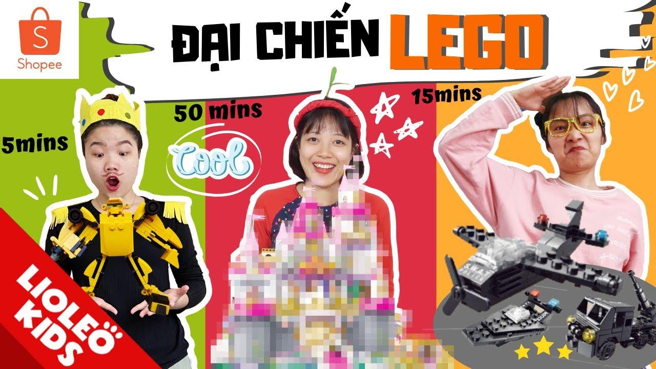 """Đại chiến LEGO 5 phút vs 15 phút vs 50 phút – GIẢI CỨU Hoàng tử khỏi """"Cơn thịnh nộ"""" của Công Công?!!"""