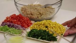 Ensalada De Quinoa,Saludable Y Muy Facil !!