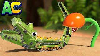 АнимаКары - ДЖОННИ спасает КРОКОДИЛА от опасности в джунглях! - мультфильмы с грузовиками с машинами