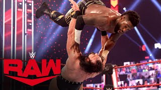 Drew McIntyre vs. The Hurt Business – 2-on-1 Handicap Match: Raw, Mar. 22, 2021