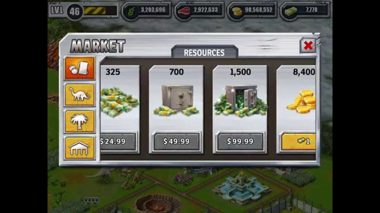 Jurassic park builder unlimited cash hack youtube for Builders unlimited