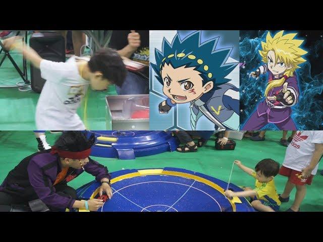Beyblade Burst Super Zetsu Battle - Championship - vs. Valt, Daina, Wakiya Battle - Kids Toy - Anime