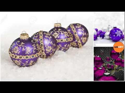 christmas tree ball ornaments purple christmas ornaments - Purple Christmas Decorations